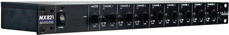MX821S - 8 Ch (1U) Mic/Line Mixer w/ Tone