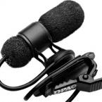 4080 Miniature Cardioid Microphone, Lavalier, Black